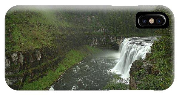 Upper Messa Falls IPhone Case