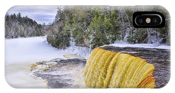 Upper Tahquamenon Falls In Winter IPhone Case