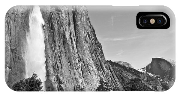 Upper Yosemite Fall With Half Dome IPhone Case