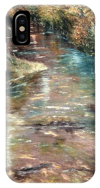 IPhone Case featuring the painting Upstream by Karen Zuk Rosenblatt