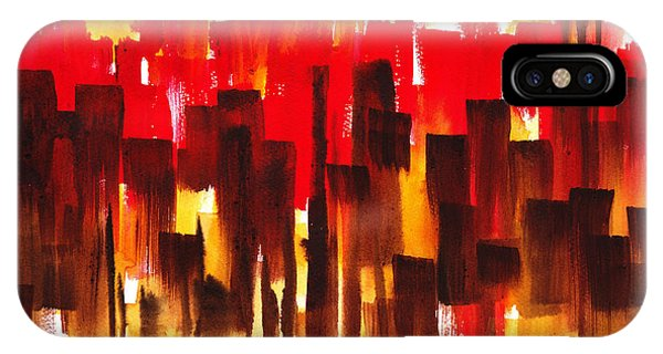 Sex And The City iPhone Case - Urban Abstract Glowing City by Irina Sztukowski