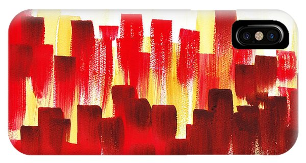 Sex And The City iPhone Case - Urban Abstract Red City Lights by Irina Sztukowski