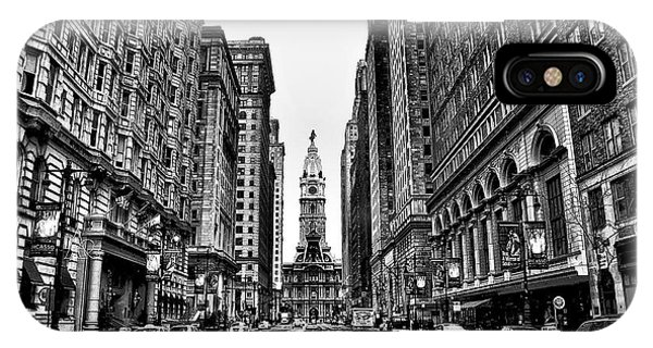 iPhone Case - Urban Canyon - Philadelphia City Hall by Bill Cannon