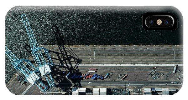 Urban Landscape With River And Industry IPhone Case