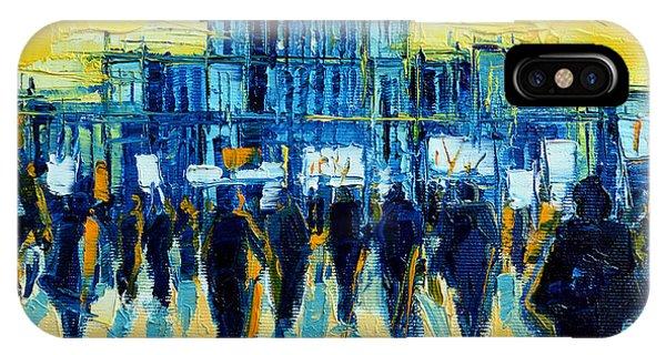 Palace iPhone Case - Urban Story - The Romanian Revolution by Mona Edulesco