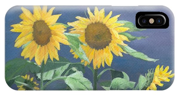 Urban Sunflowers Original Colorful Painting Sunflower Art Decor Sun Flower Artist K Joann Russell    IPhone Case