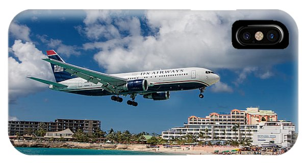U S Airways Landing At St. Maarten IPhone Case