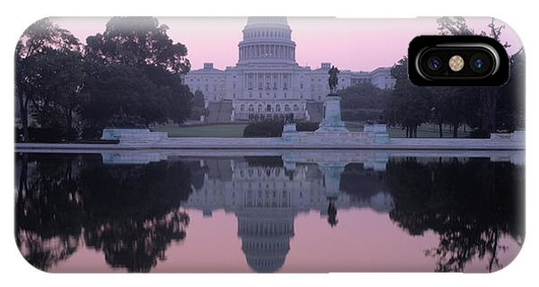 Capitol Building iPhone Case - Us Capitol Building At Dawn, Washington by Panoramic Images