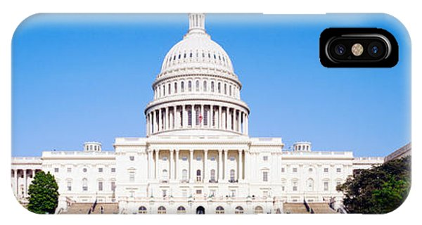 Capitol Building iPhone Case - Us Capitol, Washington Dc, District Of by Panoramic Images