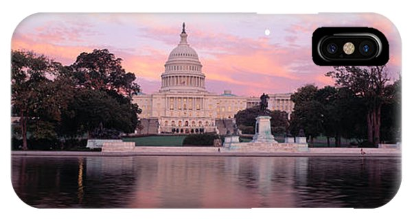 Capitol Building iPhone Case - Us Capitol Washington Dc by Panoramic Images