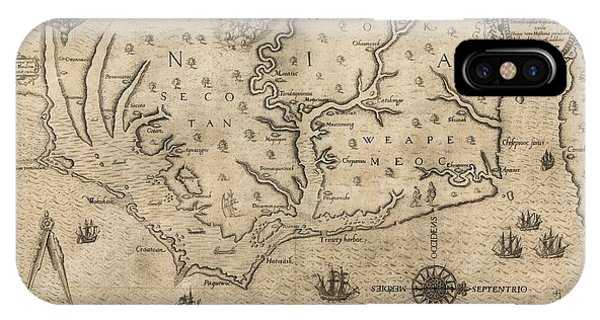 Indian Village iPhone Case - Us Colony Of Virginia by Library Of Congress, Geography And Map Division/science Photo Library