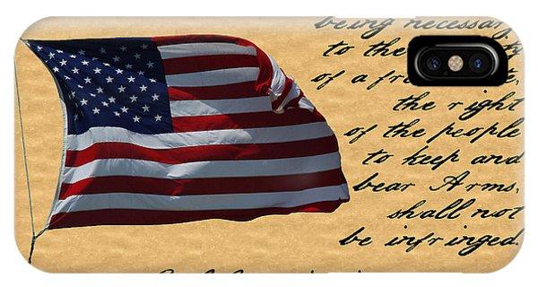 Us Constitution 2nd Amendment Flag IPhone Case