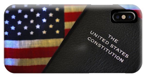 United States Constitution And Flag IPhone Case