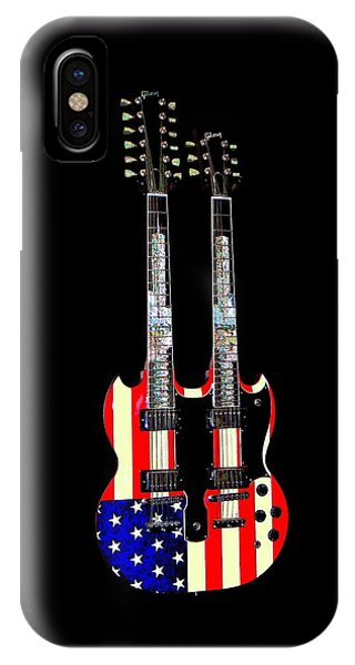 U S Flag Gibson Guitar Poster IPhone Case