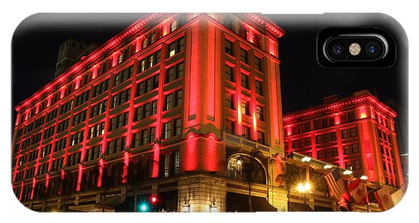 Us Grant Hotel In Red IPhone Case