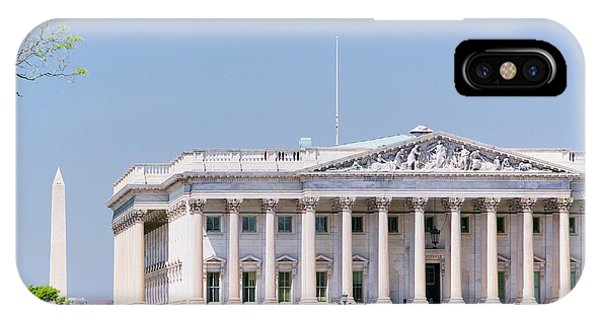 Capitol Building iPhone Case - U.s. Senate Side Of U.s. Capitol by Panoramic Images