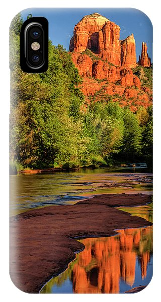 Cathedral Rock iPhone Case - Usa, Arizona Cathedral Rock Reflects by Jaynes Gallery