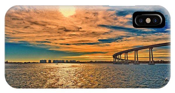 Coronado iPhone Case - Usa, Ca, San Diego-coronado Bay Bridge by Rona Schwarz
