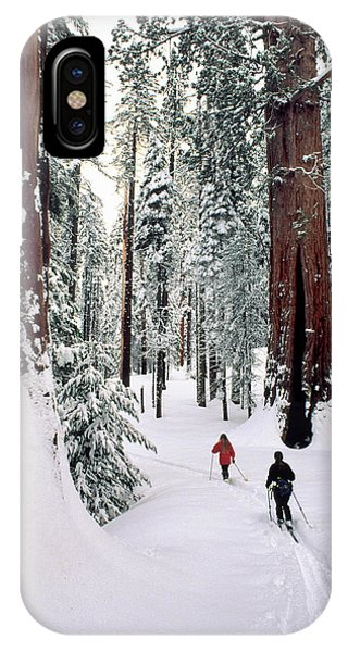 Kings Canyon iPhone Case - Usa, California, Cross Country Skiing by Gerry Reynolds