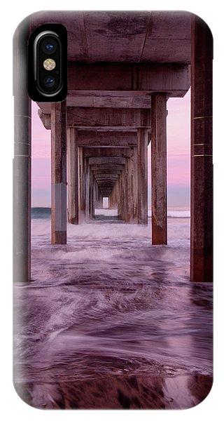 Scripps Pier iPhone Case - Usa, California, La Jolla, Dawn by Ann Collins