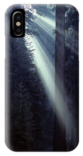 Kings Canyon iPhone Case - Usa, California, Sun, Smoke, Forest by Gerry Reynolds