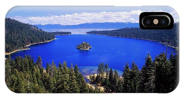 iPhone Case - Usa, California, View Of Emerald Bay by Adam Jones
