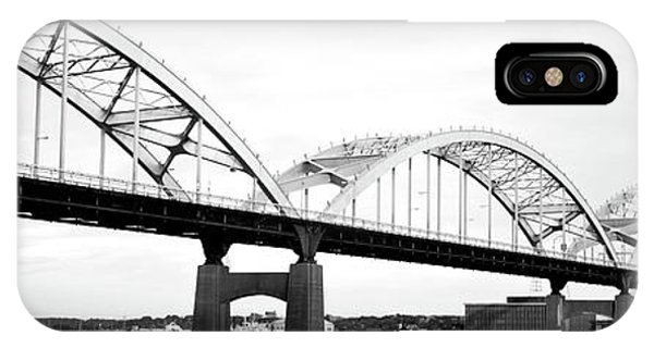 Centennial Bridge iPhone Case - Usa, Iowa, Davenport, Centennial Bridge by Panoramic Images
