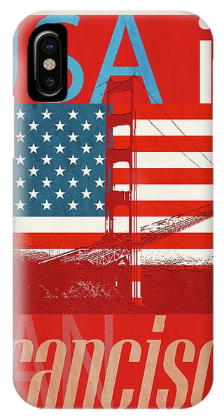 Usa Is San Francisco Red IPhone Case