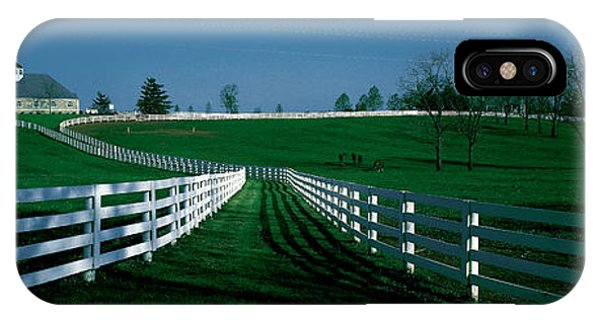 Bucolic iPhone Case - Usa, Kentucky, Lexington, Horse Farm by Panoramic Images