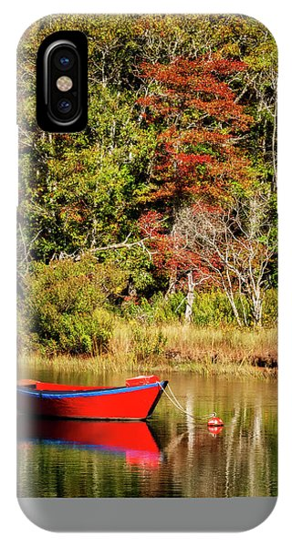 Cape Cod iPhone Case - Usa, Massachusetts, Cape Cod, Red Dory by Ann Collins