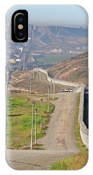 Police Patrol Law Enforcement iPhone Case - Usa-mexico Border Surveillance by Jim West