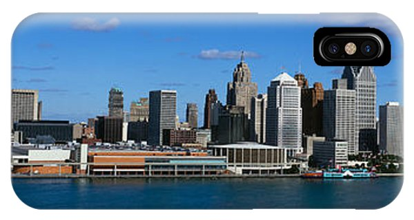 Renaissance Center iPhone Case - Usa, Michigan, Detroit by Panoramic Images