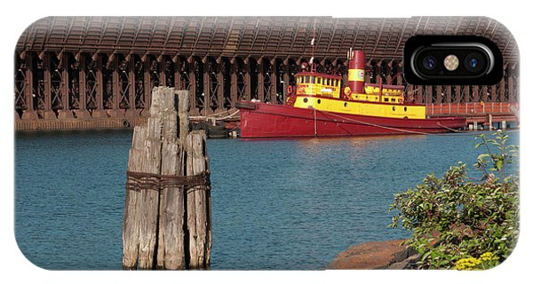 Lake Superior iPhone Case - Usa, Minnesota, Two Harbors, Edna G by Peter Hawkins