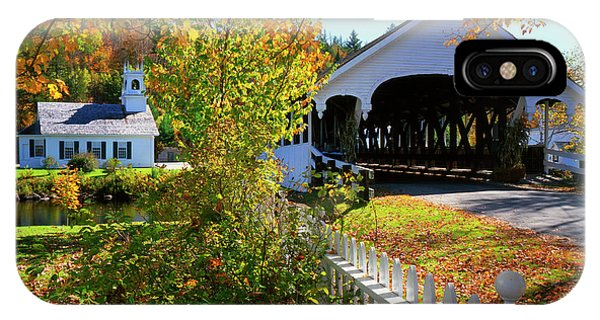 Covered Bridge iPhone Case - Usa, New Hampshire, Stark by Jaynes Gallery