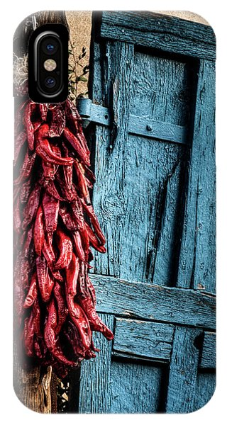 iPhone Case - Usa, New Mexico, Taos, Gate And Ristra by Ann Collins