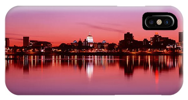 Capitol Building iPhone Case - Usa, Pennsylvania, Harrisburg At Dusk by Panoramic Images