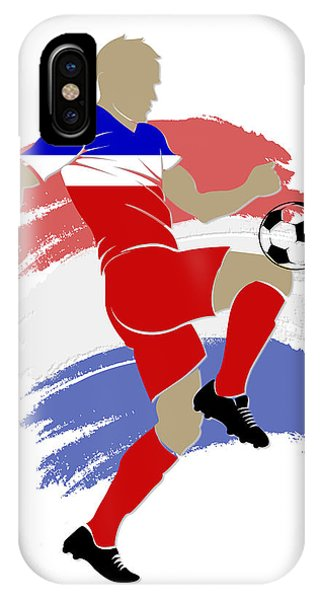 Soccer iPhone Case - Usa Soccer Player by Joe Hamilton