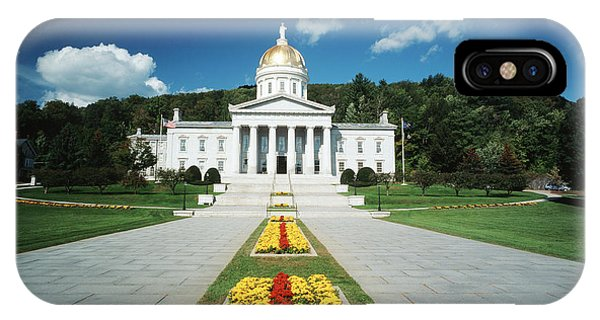 Capitol Building iPhone Case - Usa, Vermont, Montpelier, Vermont State by Walter Bibikow