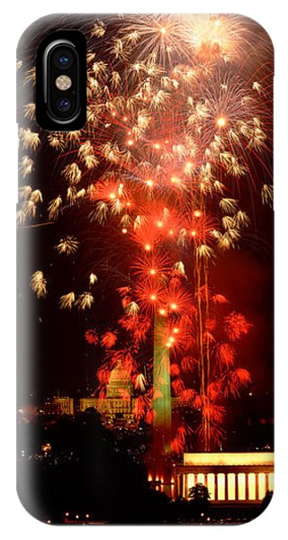 Distant iPhone Case - Usa, Washington Dc, Fireworks by Panoramic Images
