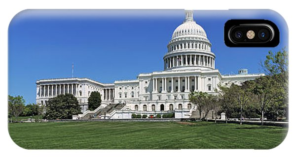 Capitol Building iPhone Case - Usa, Washington Dc, Low Angle View by Panoramic Images