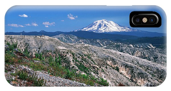 Cold Day iPhone Case - Usa, Washington State, View Of Mt Adams by Kent Foster