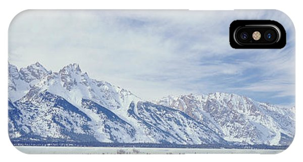Cold Day iPhone Case - Usa, Wyoming, Grand Teton National by Scott T. Smith