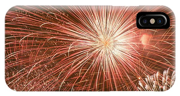 Fireworks iPhone Case - Usa, Wyoming, Jackson, Fireworks by Panoramic Images