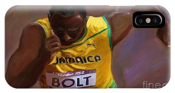 Usain Bolt 2012 Olympics IPhone Case