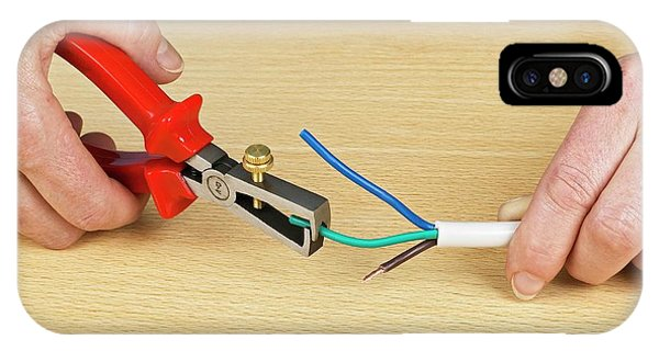 Electrical Component iPhone Case - Using Wire Strippers by Dorling Kindersley/uig