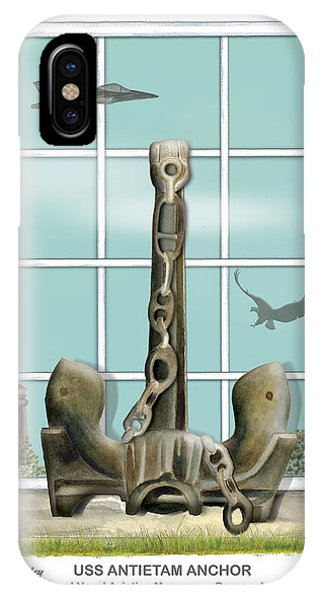 Uss Antietam Anchor IPhone Case