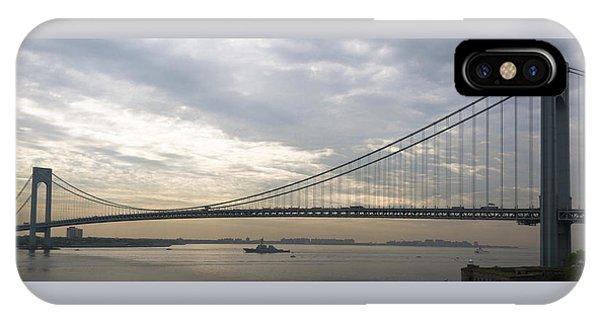 Uss Cole And The Verrazano Narrows Bridge IPhone Case