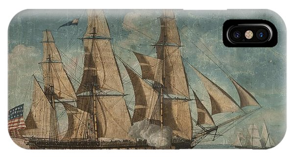 IPhone Case featuring the painting Uss Constitution 1803 by Celestial Images