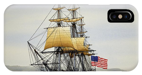 James iPhone Case - Uss Constitution by James Williamson