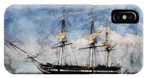 Uss Constitution On Canvas - Featured In 'manufactured Objects' Group IPhone Case